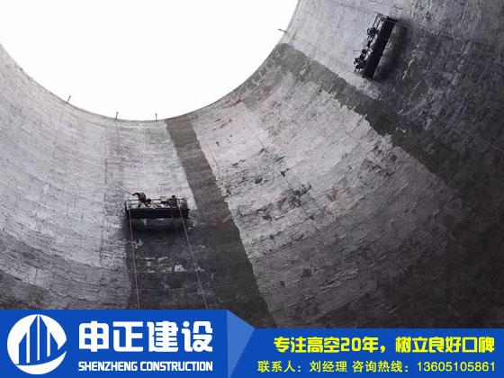 150米煙囪內壁防(fang)腐(fu)施工(gong)